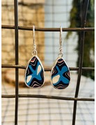 Fordite Teardrop Earrings