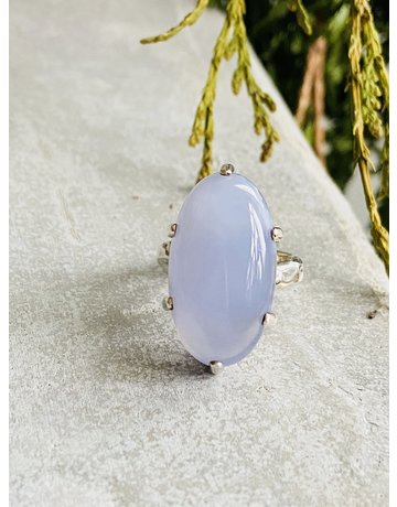 Blue Chalcedony Ring - Size 7