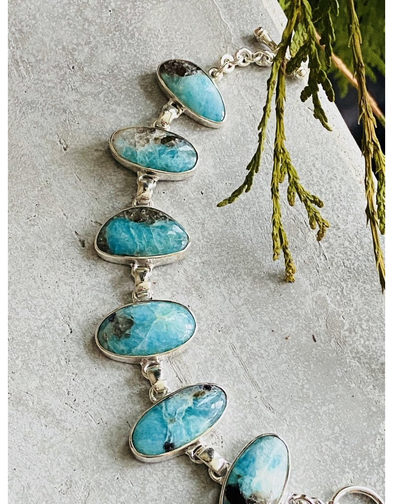 Amazonite & Smokey Quartz Bracelet