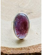 Iolite Sunstone Ring - Size 8
