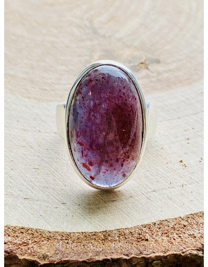 Iolite Sunstone Ring - Size 8