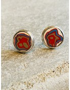 Fordite Stud Earrings