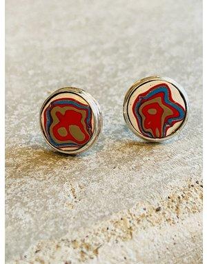 Fordite Stud Earrings