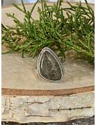 Black Rutile Quartz Ring - Size 9