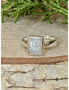 Small Rectangle Moonstone Ring - Size 8