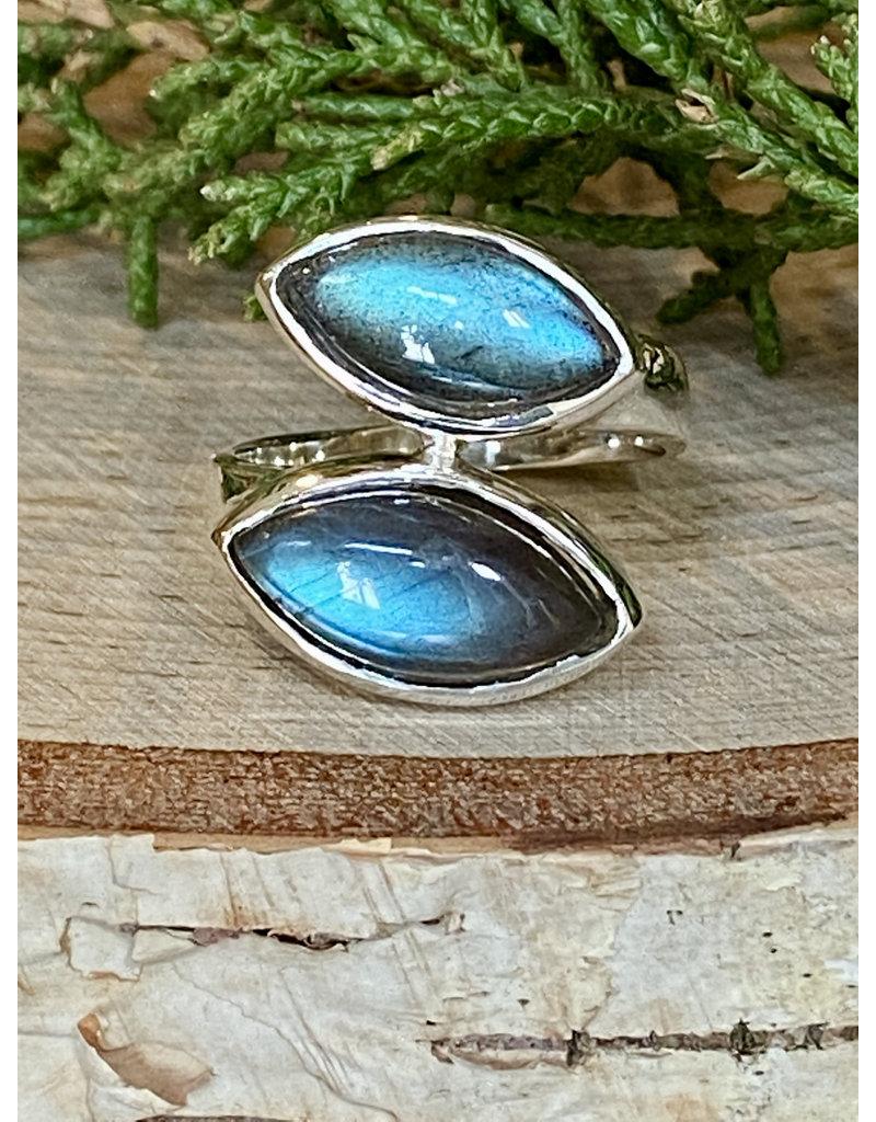 Labradorite Double  Wrap Ring - Size 9