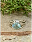 Blue Topaz Oval Ring - Size 7