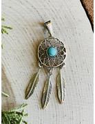 Turquoise Dreamcatcher Pendant