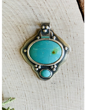 Turquoise Double Oval Pendant