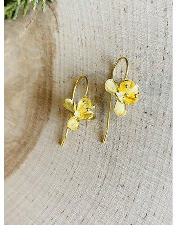 Small Gold Vermeil Flower