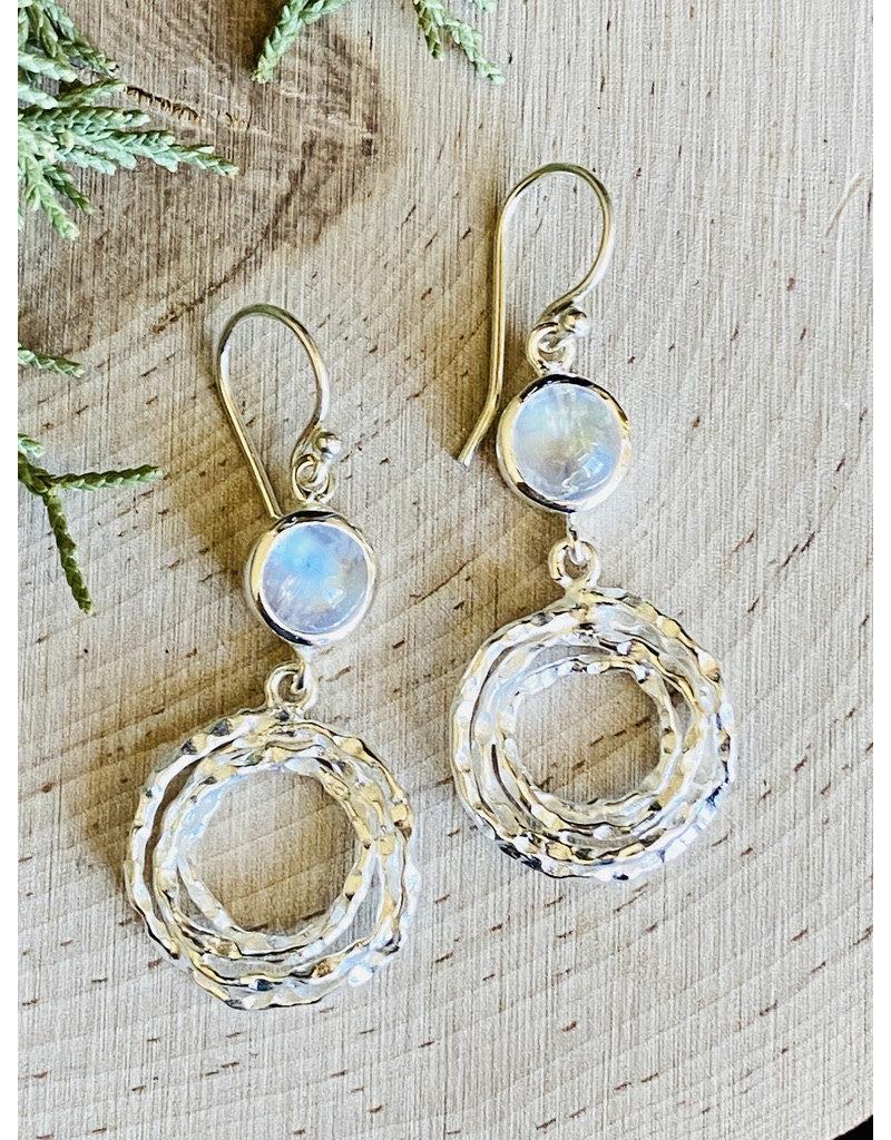 Moonstone Nest Dangle Earrings