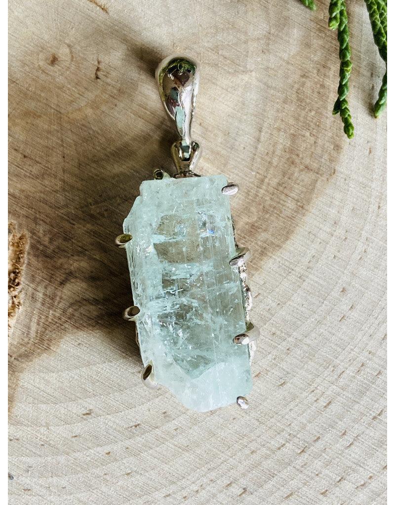 Aquamarine Crystal Pendant