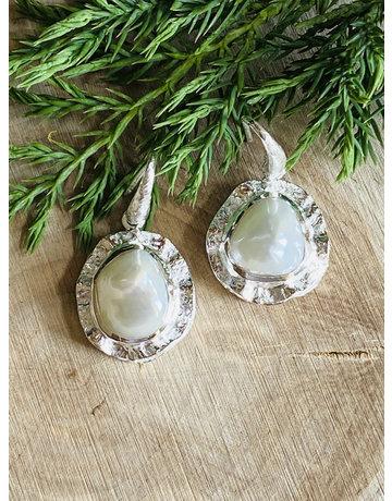 Pearl Double Sterling Earrings