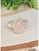 Morganite Ring w/Brushed Band - Size 7