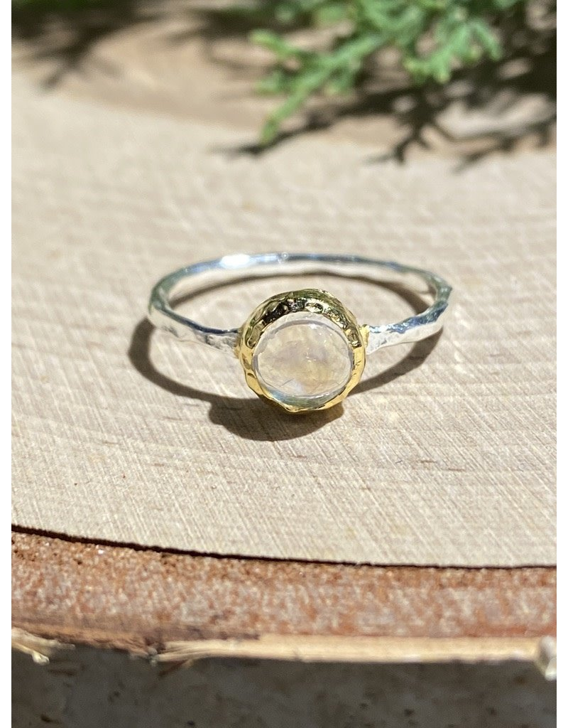 Moonstone Sterling Ring with GF Bezel
