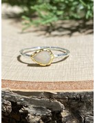 Teardrop Ethiopian Opal Sterling Ring with GF Bezel