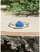 Australian Opal Sterling Textured Ring Sz 6