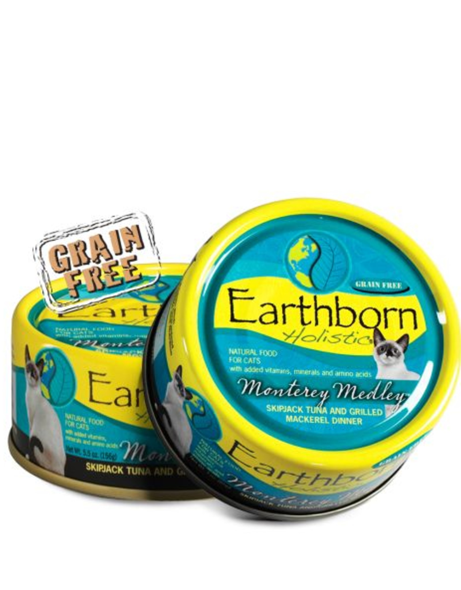Earthborn Monterey Medley Grain-Free Natural Adult Canned Cat Food, 5.5 oz.