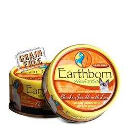 Earthborn Chicken Jumble Grain-Free Natural Adult Canned Cat Food, 5.5 oz.