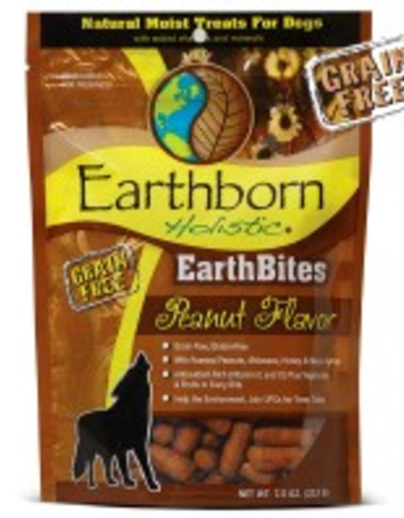 Earthborn EarthBites Peanut Flavor Natural Moist Dog Treats, 7.5 oz.