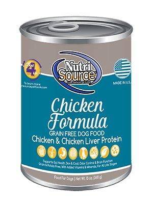 Nutri Source Grain Free Chicken Formula Canned Dog Food, 13 oz.