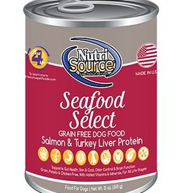 Nutri Source Grain Free Seafood Select Formula Canned Dog Food, 13 oz.