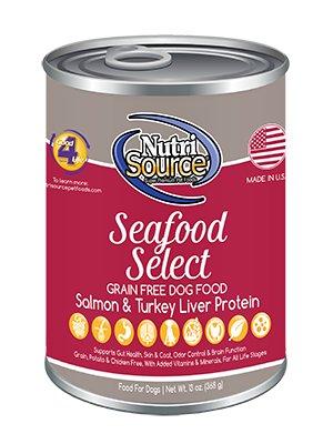 Nutri Source Grain Free Seafood Select Formula Canned Dog Food, 13 oz.