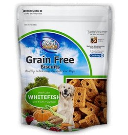 Nutri Source Grain-Free Whitefish Formula Dog Biscuits, 14 oz.