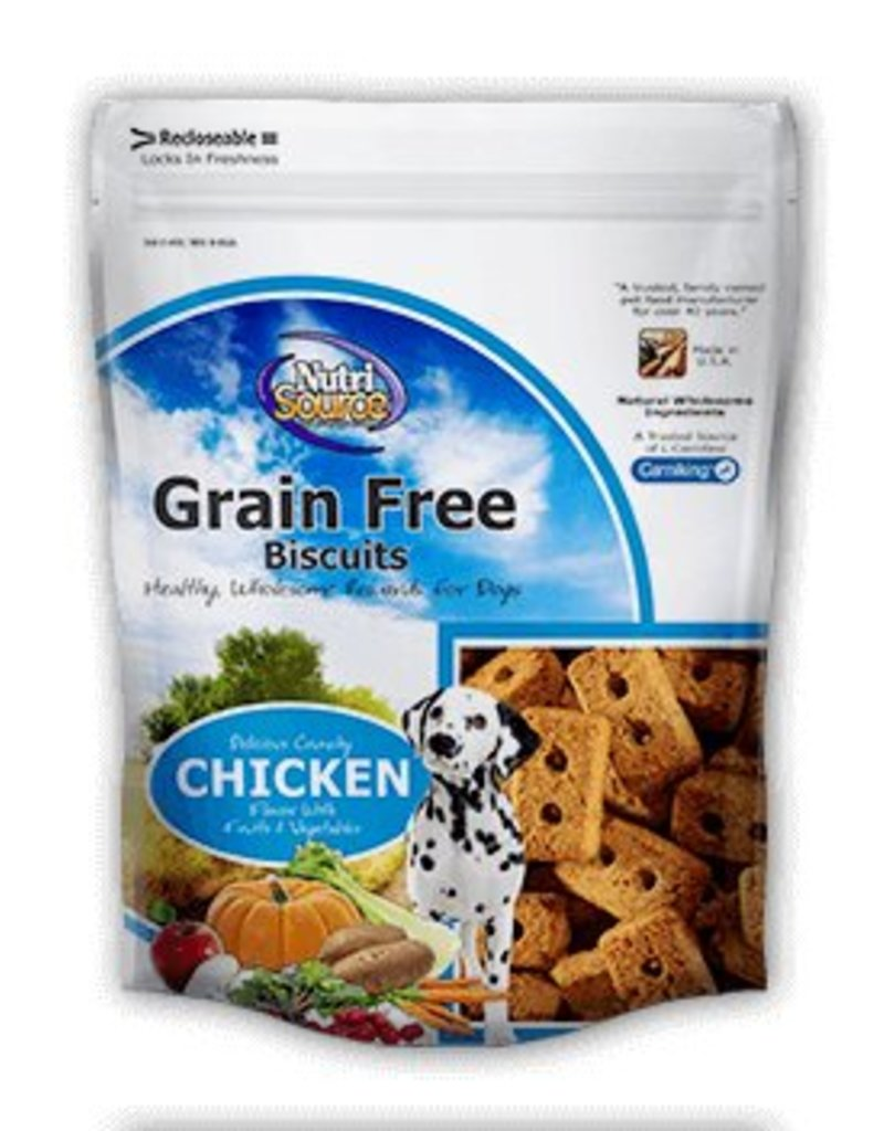 Nutri Source Grain-Free Chicken Formula Dog Biscuits, 14 oz.