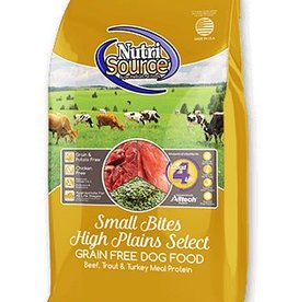Nutri Source Small Bites High Plains Select Grain-Free Dry Dog Food