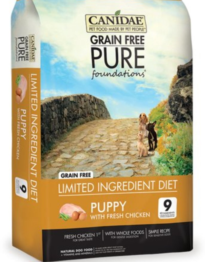 Canidae Grain-Free PURE Foundations Puppy Formula with Chicken Limited Ingredient Diet Adult Dry Dog Food