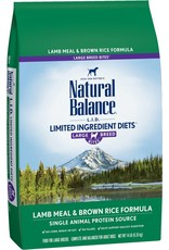 Natural Balance L.I.D. Limited Ingredient Diets Lamb Meal & Brown Rice Formula Large Breed Bites Dry Dog Food