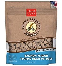 Cloud Star Crunchy Tricky Trainers Salmon Flavor Dog Treats, 8 oz.