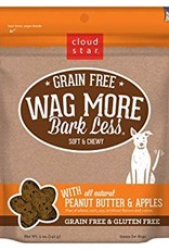 Cloud Star Wag More Bark Less Grain-Free Soft & Chewy with Peanut Butter & Apples Dog Treats, 5 oz.
