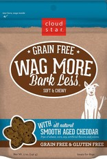 Cloud Star Wag More Bark Less Grain-Free Soft & Chewy with Aged Cheddar Dog Treats, 5 oz.