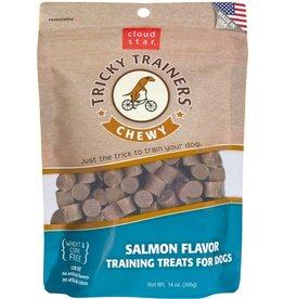 Cloud Star Chewy Tricky Trainers Salmon Flavor Dog Treats, 5 oz.