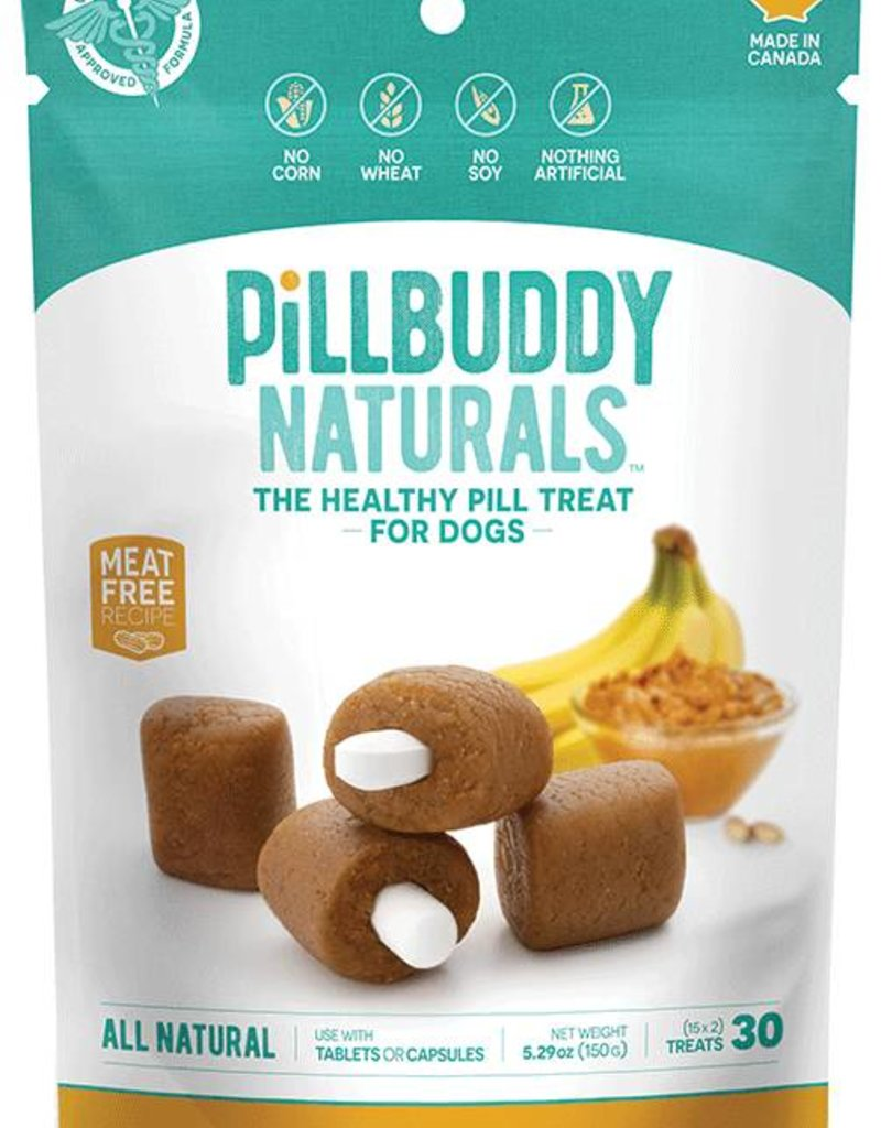 Complete Natural Nutrition Pill Buddy Peanut Butter & Banana Recipe Dog Treats, 30 count