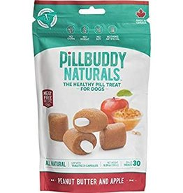 Complete Natural Nutrition Pill Buddy Peanut Butter & Apples Recipe Dog Treats, 30 count
