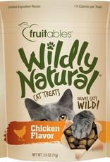 Fruitables Wildly Natural Chicken Flavor Cat Treats, 2.5 oz.