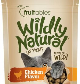 Fruitables Wildly Natural Chicken Flavor Cat Treats, 2.5 oz.
