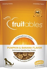 Fruitables Pumpkin & Banana Flavor Crunchy Dog Treats, 7 oz.