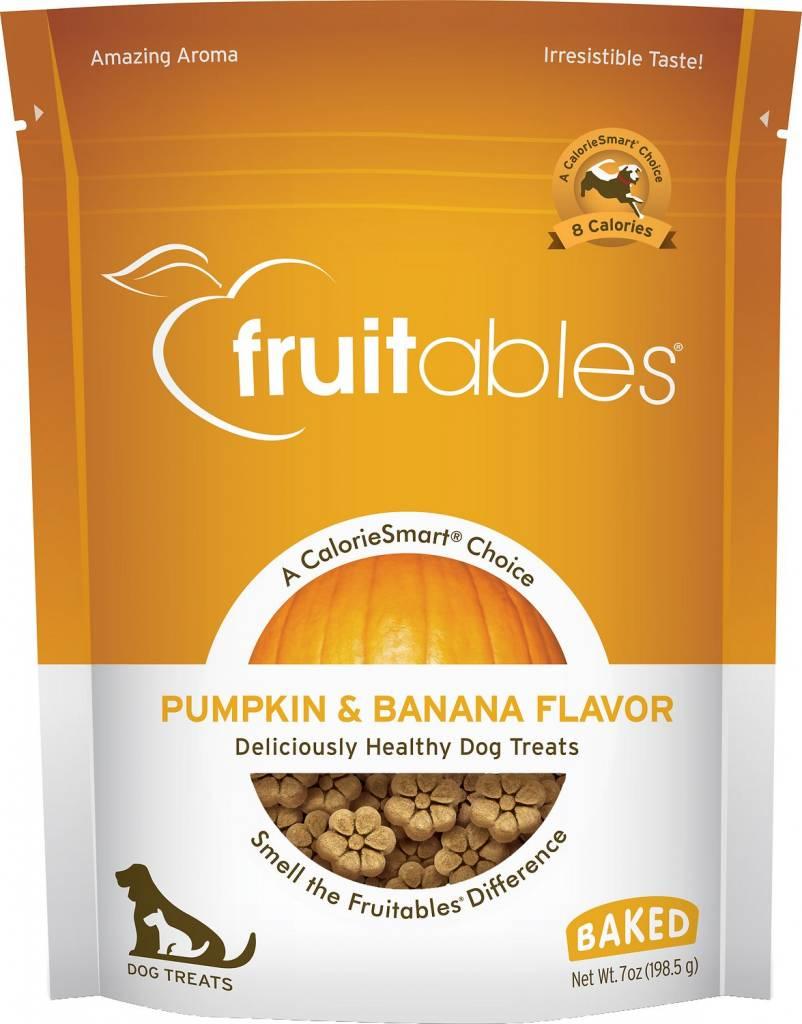 Fruitables Pumpkin & Banana Flavor Crunchy Dog Treats, 7 oz.