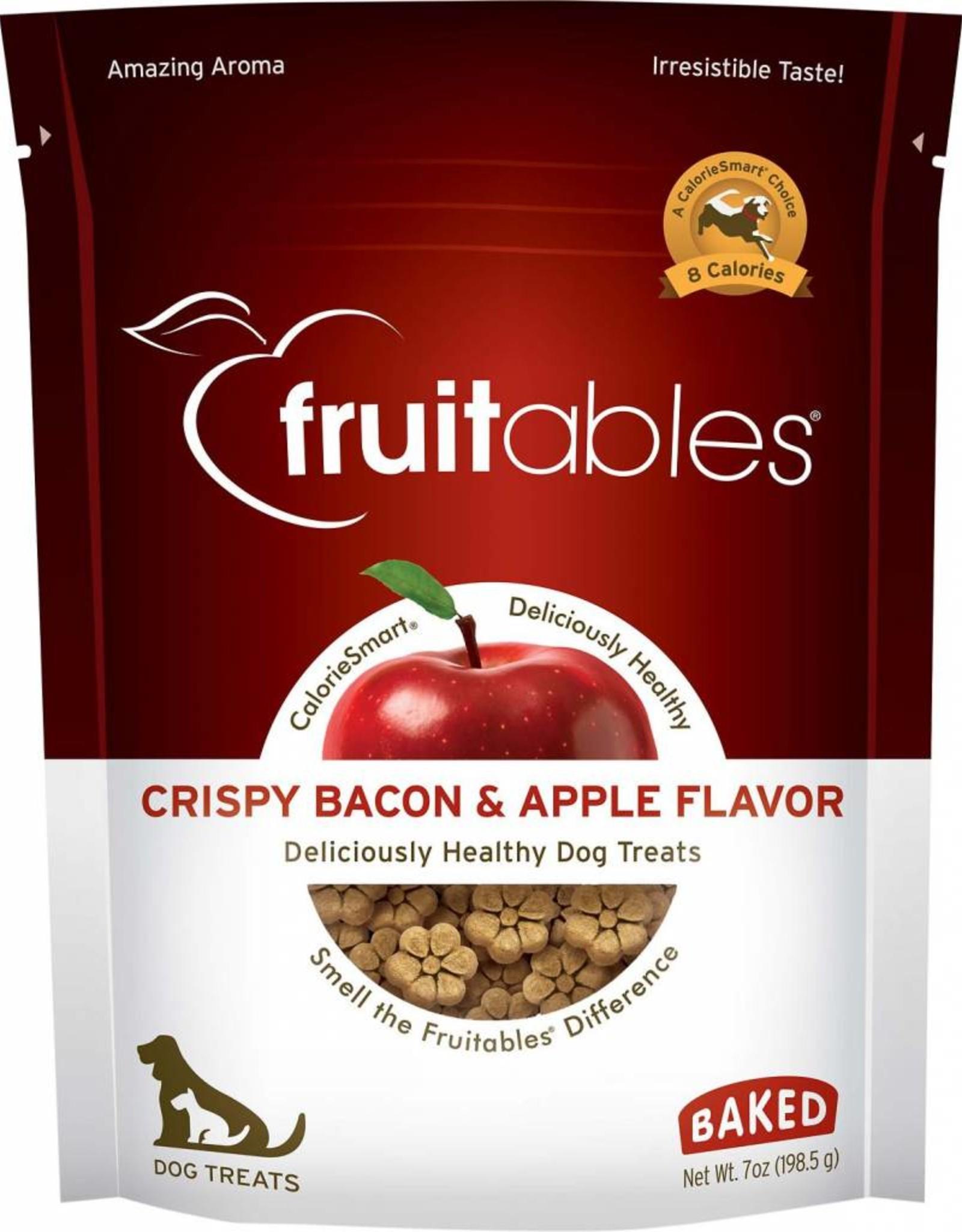 Fruitables Crispy Bacon & Apple Flavor Crunchy Dog Treats, 7 oz.