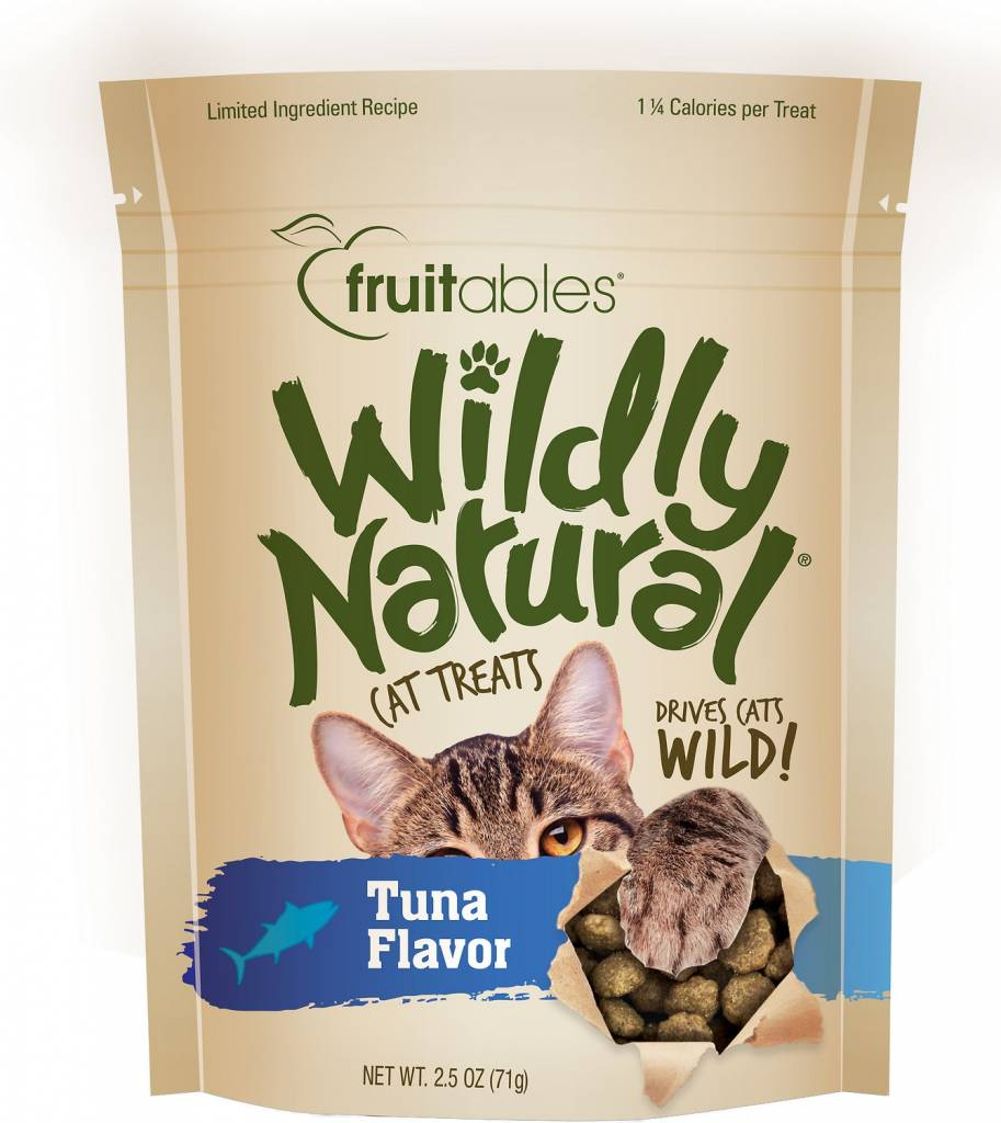 Fruitables Wildly Natural Tuna Flavor Cat Treats, 2.5 oz.