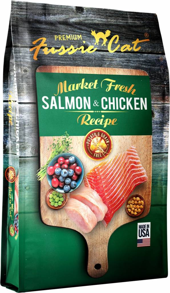 Fussie Cat Market Fresh Salmon & Chicken Recipe Grain-Free Dry Cat Food