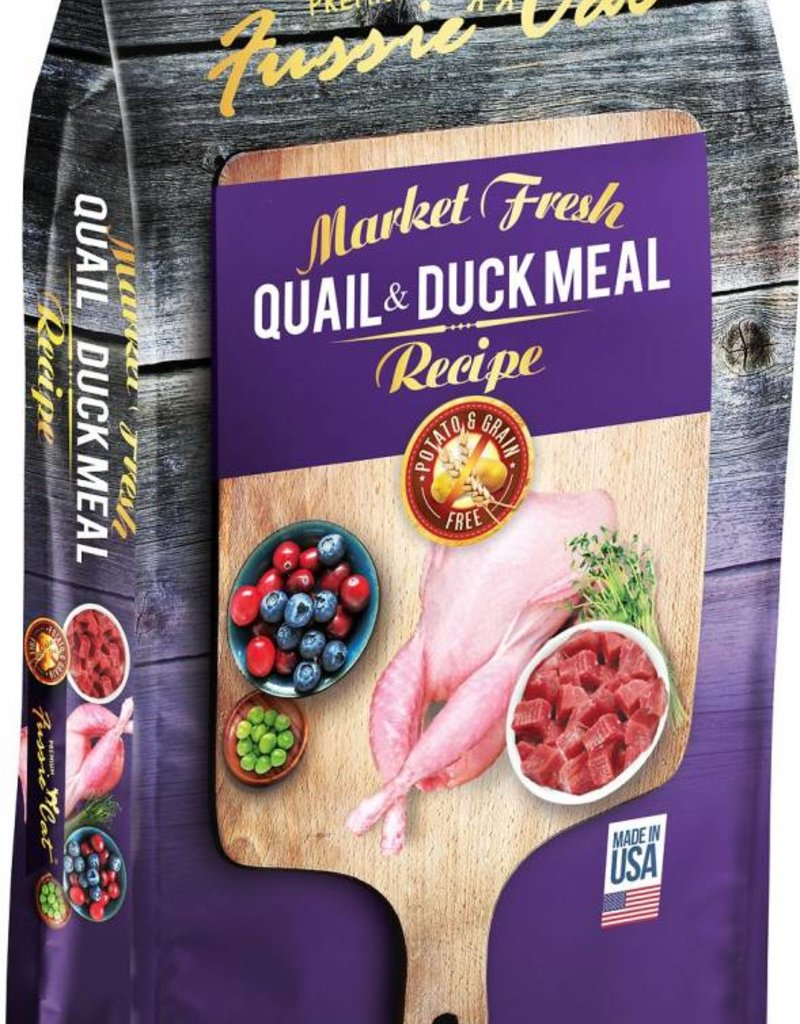 Fussie Cat Market Fresh Quail & Duck Recipe Grain-Free Dry Cat Food