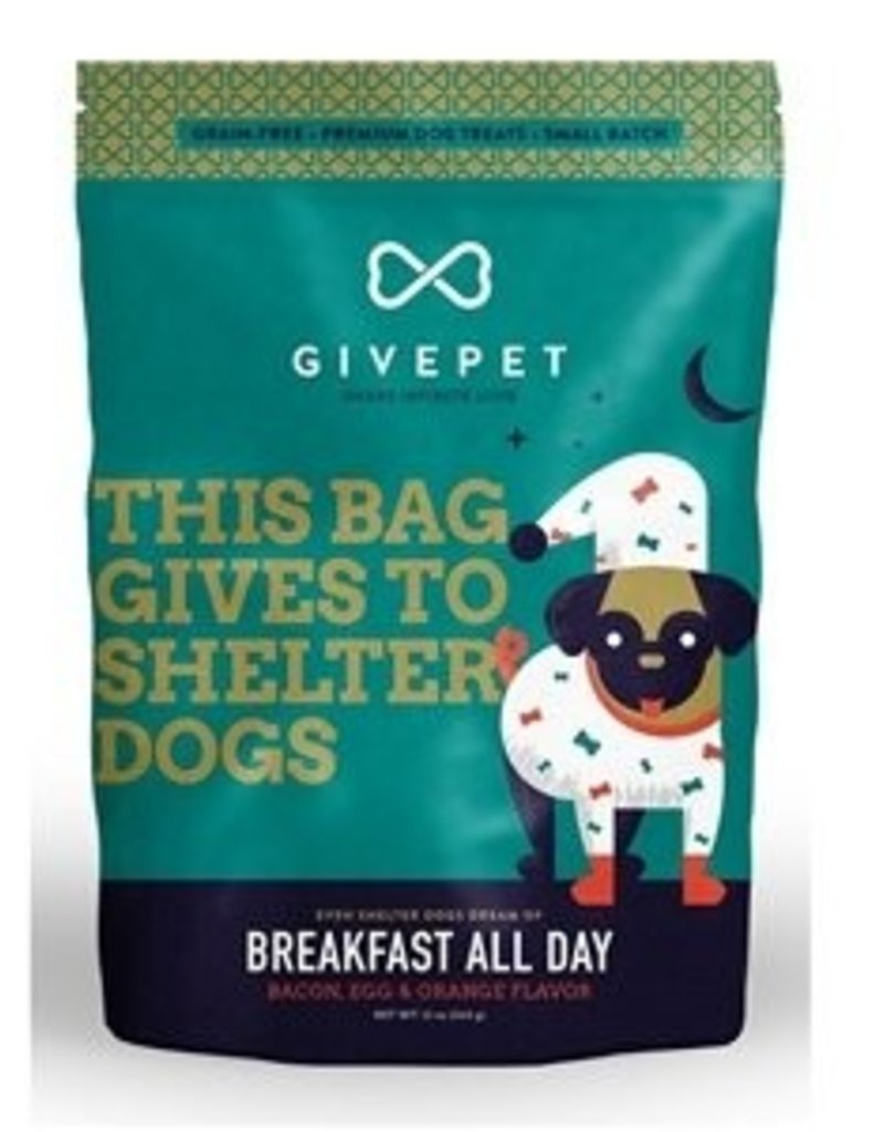 Give Pet Breakfast All Day Bacon, Egg & Orange Flavor Dog Treats, 12 oz.