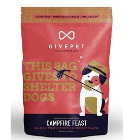 Give Pet Campfire Feast Salmon, Sweet Potato & Blueberry Flavor Dog Treats, 12 oz.