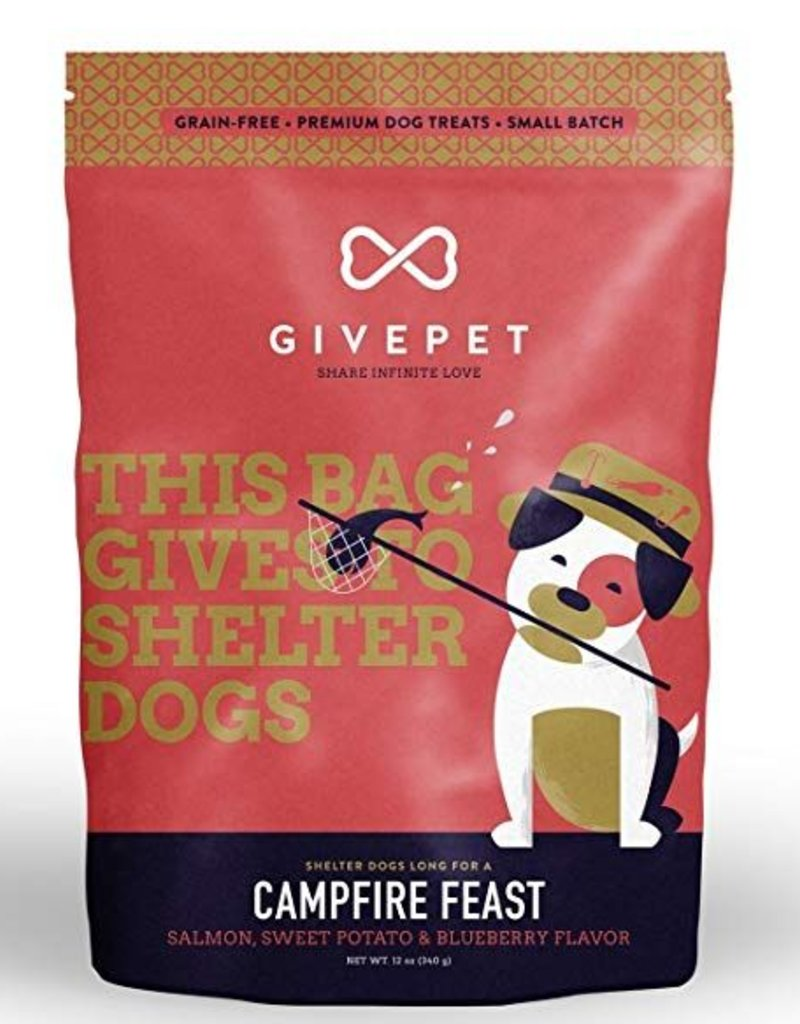 Give Pet Campfire Feast Salmon, Sweet Potato & Blueberry Flavor Dog Treats, 12 oz.