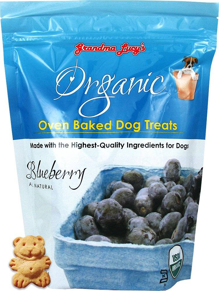 Grandma Lucy's Organic Blueberry Oven Baked Dog Treats, 14 oz.